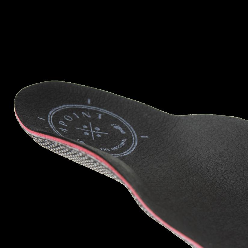 Orthopädische Einlage - Business calcaneo Leatherline schwarz - Hinten