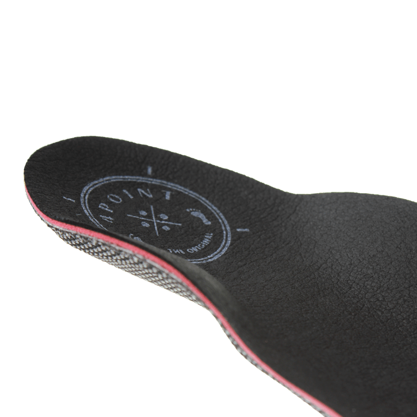 Business calcaneo Leatherline schwarz - Hinten