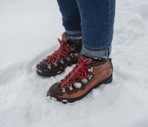 Stiefel im Schnee