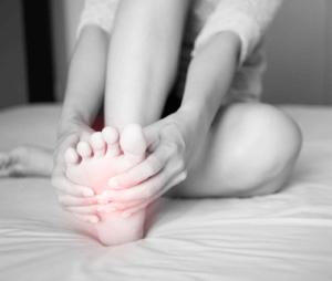 Schmerz an der Fußsohle (Bildlich dargestellt)